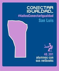 Provincia de San Luis. Conectar Igualdad 4 AÑOS