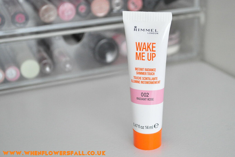 beauty, whenflowersfall, rimmel, instant radiance shimmer, review, radiant rose,