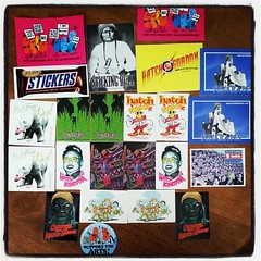 HATCH Sticker Museum of Germany sent a pack #stickershock  #exhibition #submission