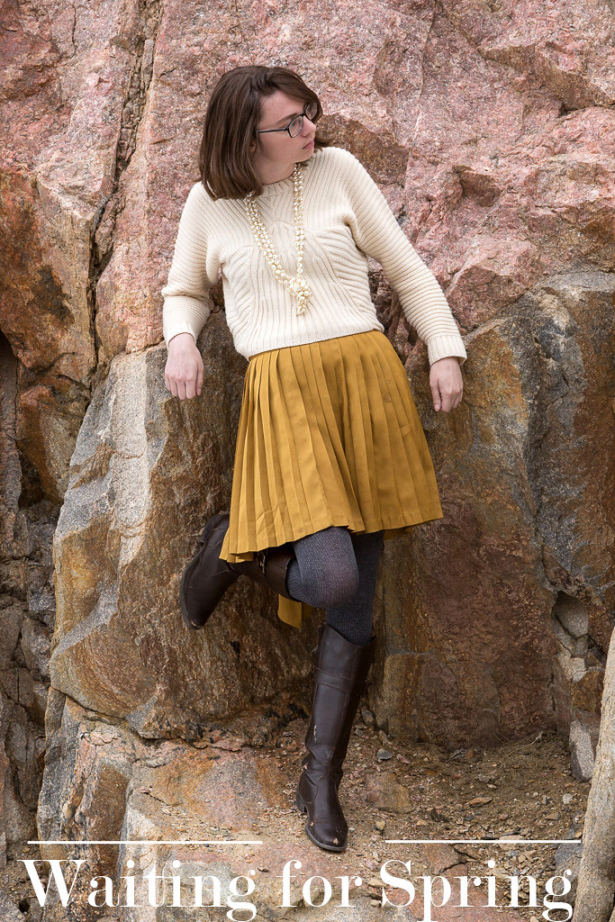 gold skirt, pearls, rock, wyoming, never fully dressed, withoutastyle,