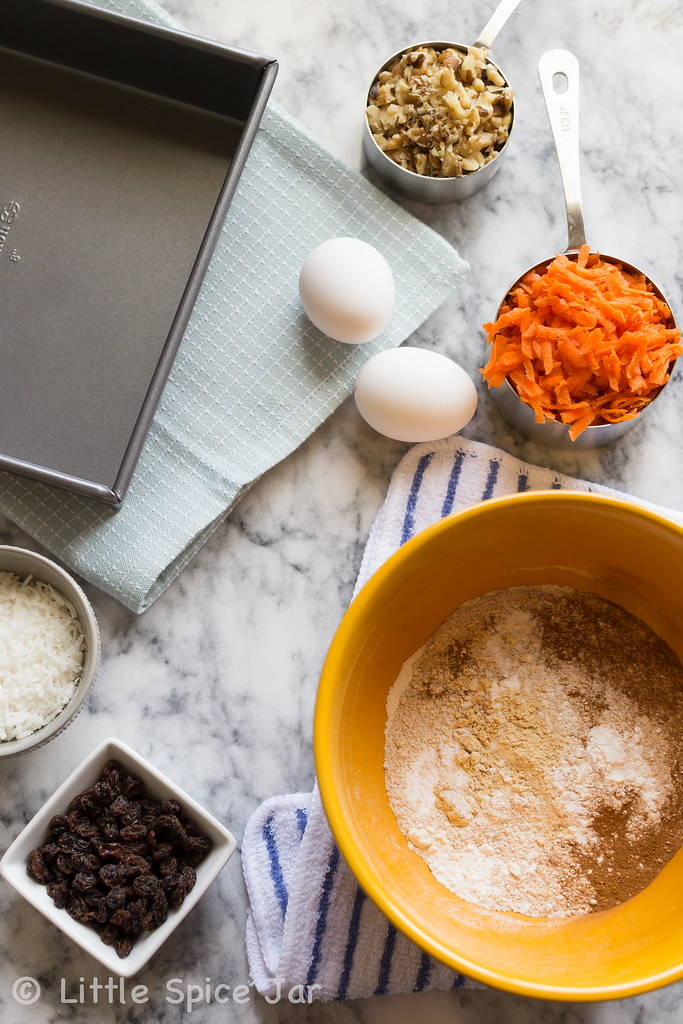 Carrot Cake Cheesecake Bars Ingredients
