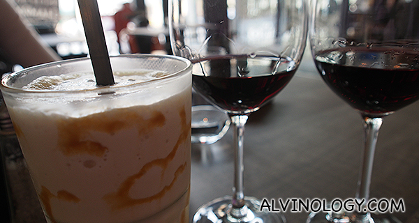 Enjoy a sweet glass of milkshake and a classy glass of wine at the same place