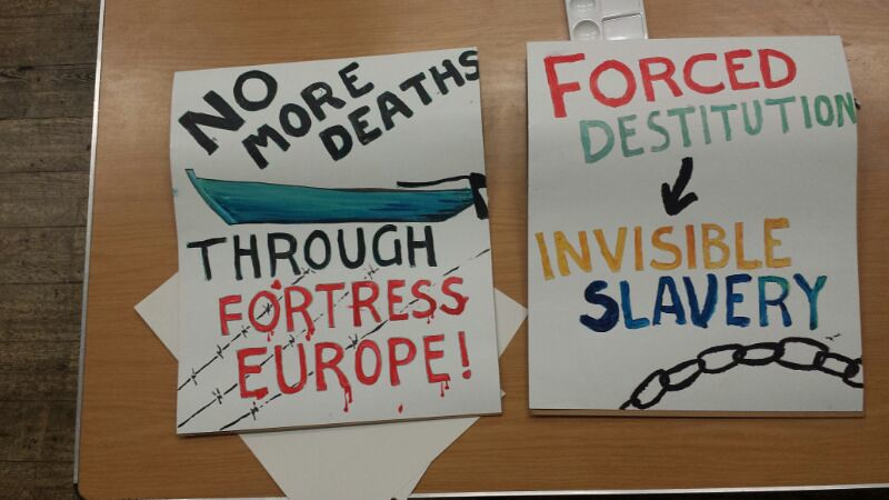 Preparations for march for dignity