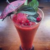 #red #smoothie: 1 cup #strawberrys 1/2 cup #cherry 1/2 cup #red #currant the #juice from 2 #grapefruits 1 tbs #honey 2-3 leafs of #mint