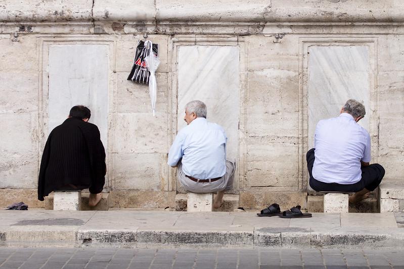 Before prayer - Yeni Cami in Istanbul