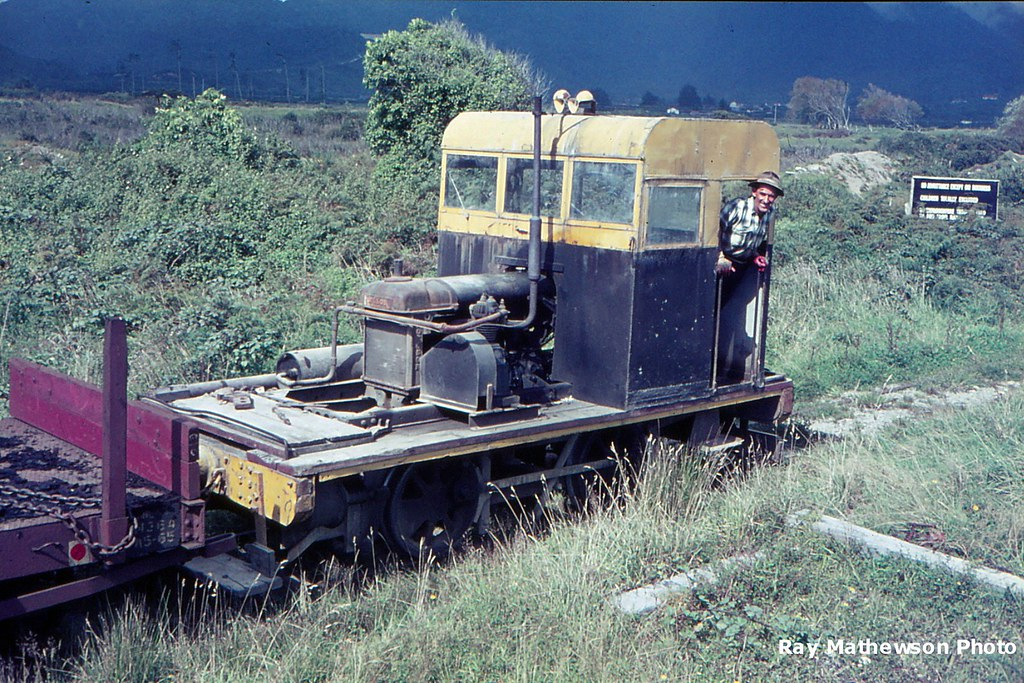 Diesel shunter on an old loco frame. Stuart and Chapmans mill 1966