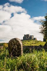 Rock of Cashel from Hore Abbey, Cashel, South Tipperary, Ireland.