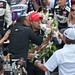 Tony Kanaan receives congratulations from friends
