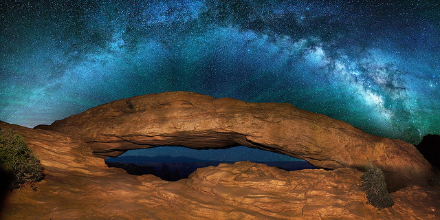 """As above, so below"" - Milky Way over Mesa Arch Canyonlands"