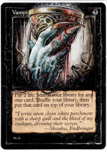 Vampiric Tutor alter mtg Magic the Gathering altered art