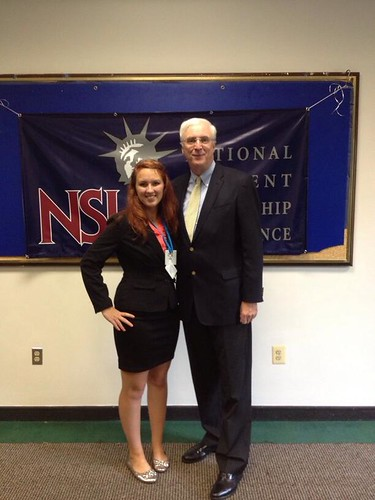 NSLC INTL Student Sarah Whipple with Ambassador Collins of Ireland