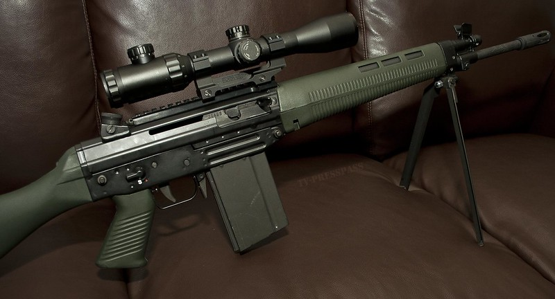 FAMAE SG542 in .308 with optics rail