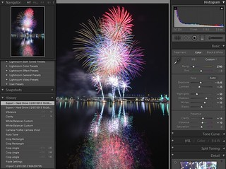 Docklands Fireworks - Lightroom - Stage 4