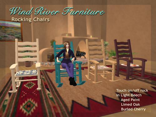 New Rocking Chairs by Teal Freenote