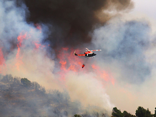 Fire Fighting Helicopter, Forest Fire, Tenerife