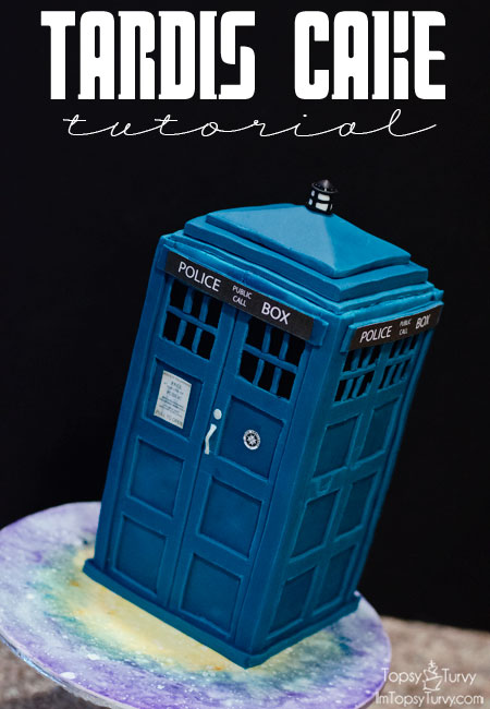 Tardis Cake Tutorial Ashlee Marie real fun with real food