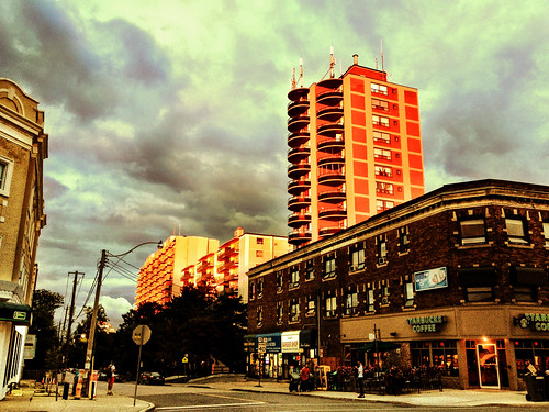 Sultry uptown sky and magic hour highrise lighting - #211/365 by PJMixer
