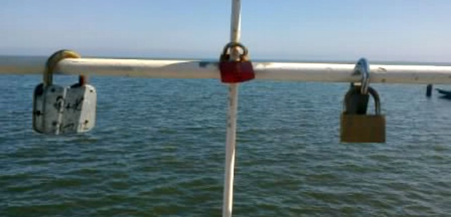 Liebesschlösser auf Usedom