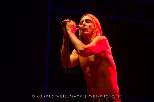 "US Garage Rock band IGGY POP & THE STOOGES performing live as main act at Arena, Vienna, Austria on August 9, 2013.  NO USE WITHOUT PRIOR WRITTEN PERMISSION.  © Markus Wetzlmayr | <a href=""http://www.wet-photo.at"" rel=""noreferrer nofollow"">www.wet-photo.at</a>"