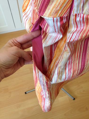 orange stripe Heidi pockets