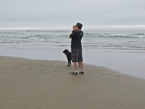 Josh and BC gazing at Haystack Rock