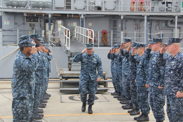 USS Avenger (MCM 1) Held its Change Of Command Ceremony