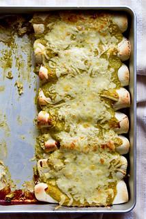 Roasted Hatch Chile & Chicken Enchiladas