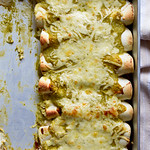 Roasted Hatch Chile & Chicken Enchiladas