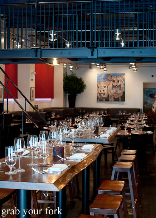dining room at craft bar by tom colicchio top chef judge flatiron district nyc new york usa