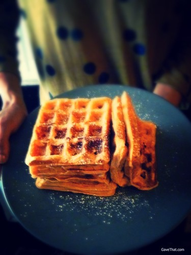 Cheese Pumpkin Buttermilk Waffles