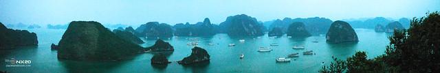 panoramic halong bay