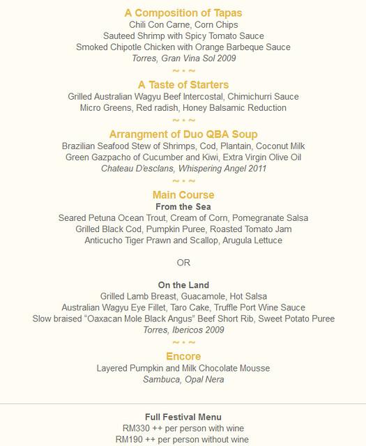 migf qba 2012 - menu