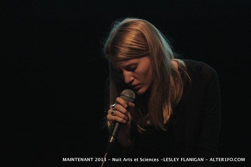 Maintenant 2013 Nuit Arts et Sciences Lesley Flanigan