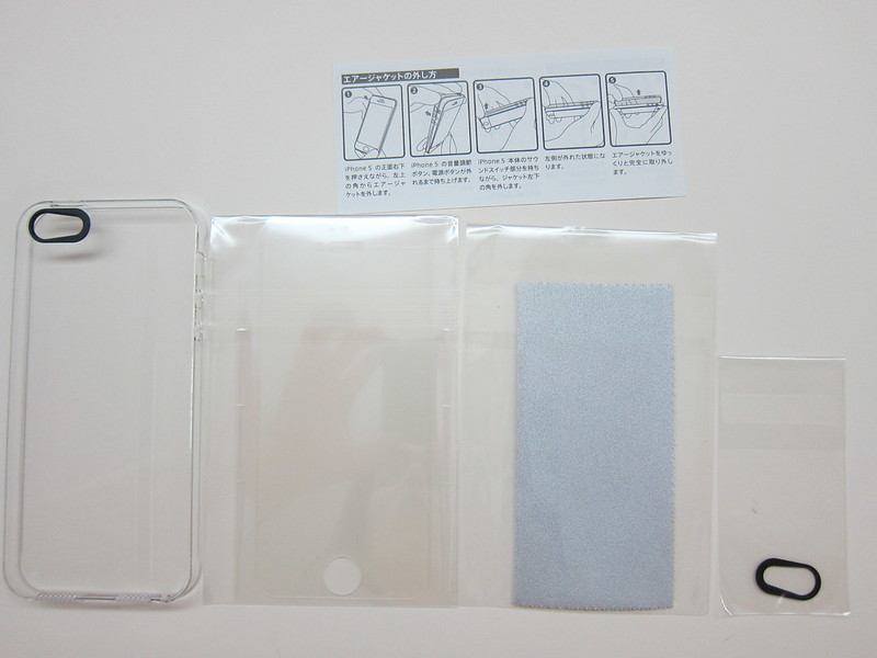 Power Support - Air Jacket Set (Clear) for iPhone 5/5s - Box Contents