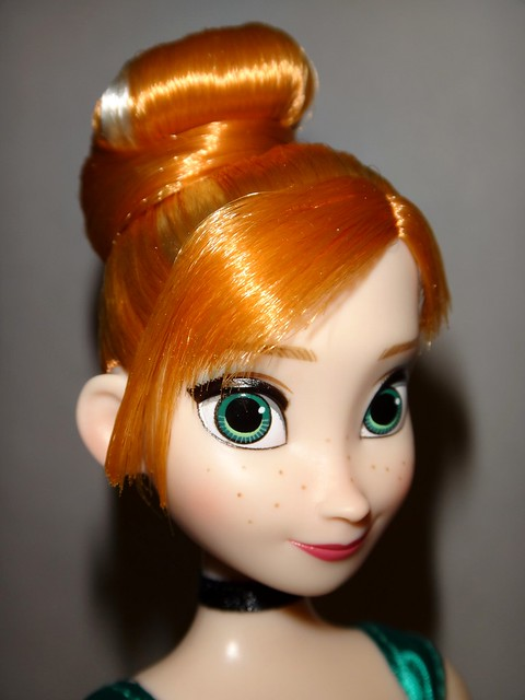 Frozen Deluxe Fashion Doll Set - US Disney Store Purchase - Anna Doll Deboxed - Standing - Closeup Left Front View #2