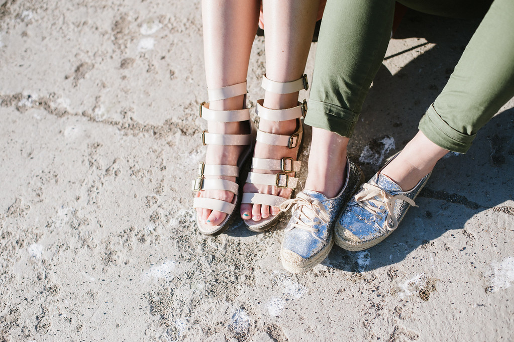 le bunny bleu, glitter espadrilles, gladiator sandals