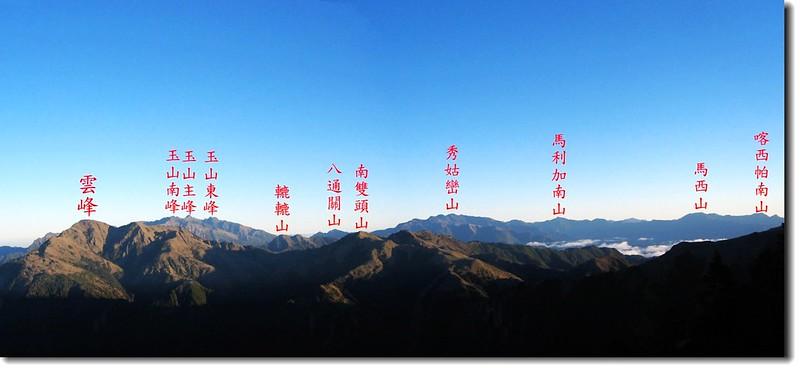 南二、馬博群峰(From 向陽三叉步道北望) 2