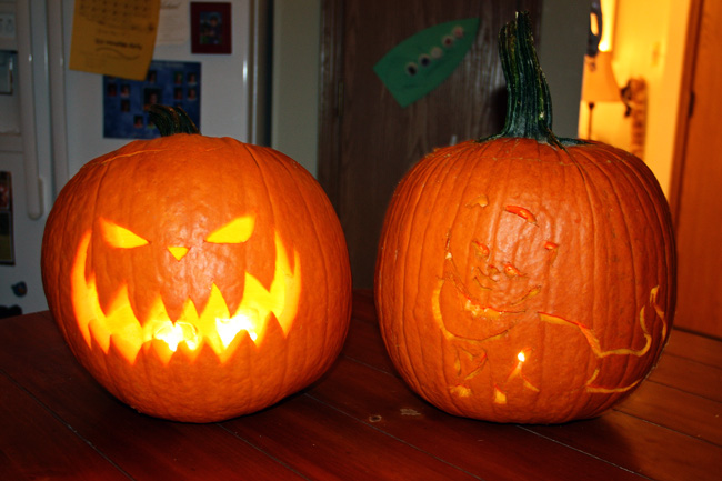 Carved-pumpkins