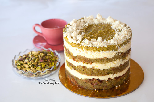 My homemade pistacho lemon cake from Momofuku Milk Bar (by Christina Tosi) recipe