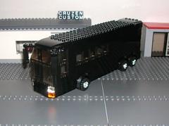 Black Touring Bus