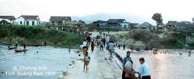 Quận lỵ THƯỜNG ĐỨC, tỉnh QUẢNG NAM 1970 - Cầu Hà Tân qua sông Côn