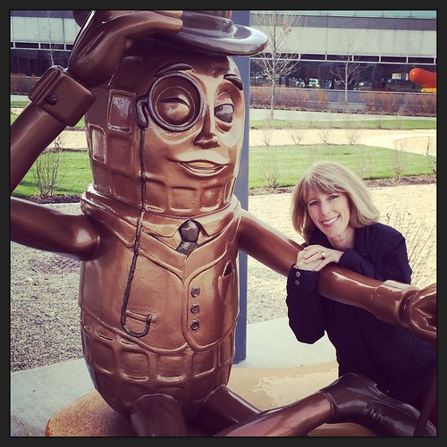 Liz with Mr. Peanut