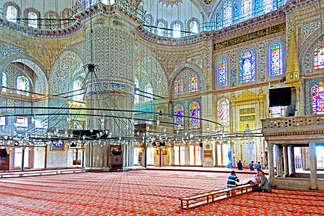 Turkey-03259 - Interior of the Blue Mosque from Flickr via Wylio