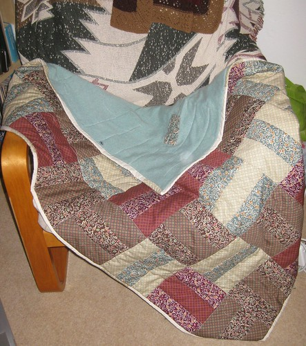 Cashmere-backed quilt