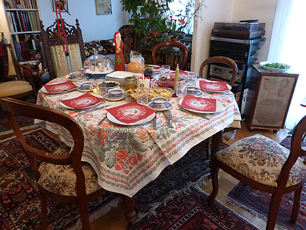 table du brunch de Noël 2