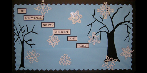 Snowflakes display