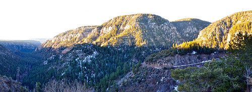 Oak Creek Canyon Panorama by Coconino National Forest
