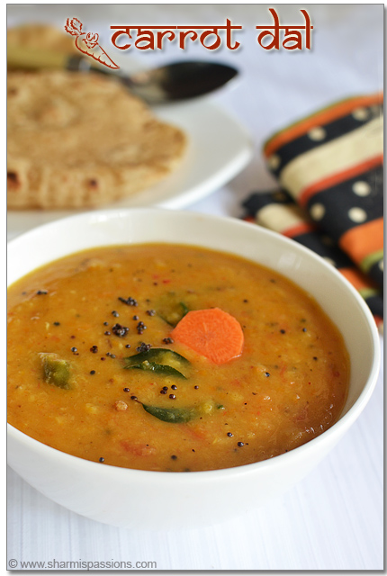 Carrot Dal Tadka Recipe