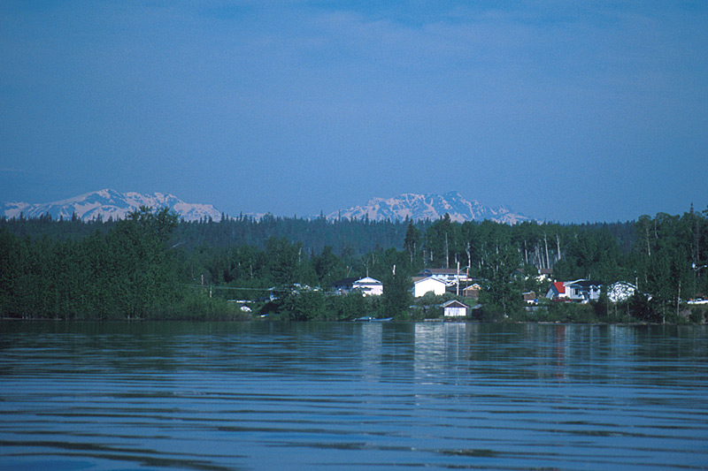 Tachet Landing on Fulton River near Granisle, Babine Lake, Northern British Columbia