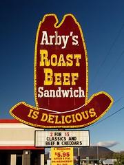 Vintage Arby's Big Hat sign in Roanoke, Virginia